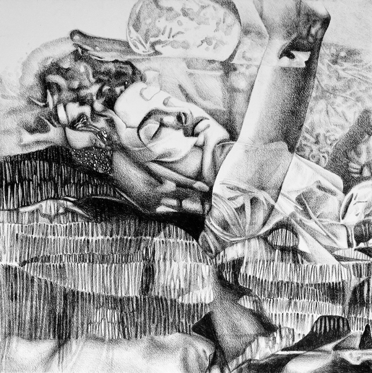 My dreams are wondrous, 2017, 50-50cm, graphite crayon on paper