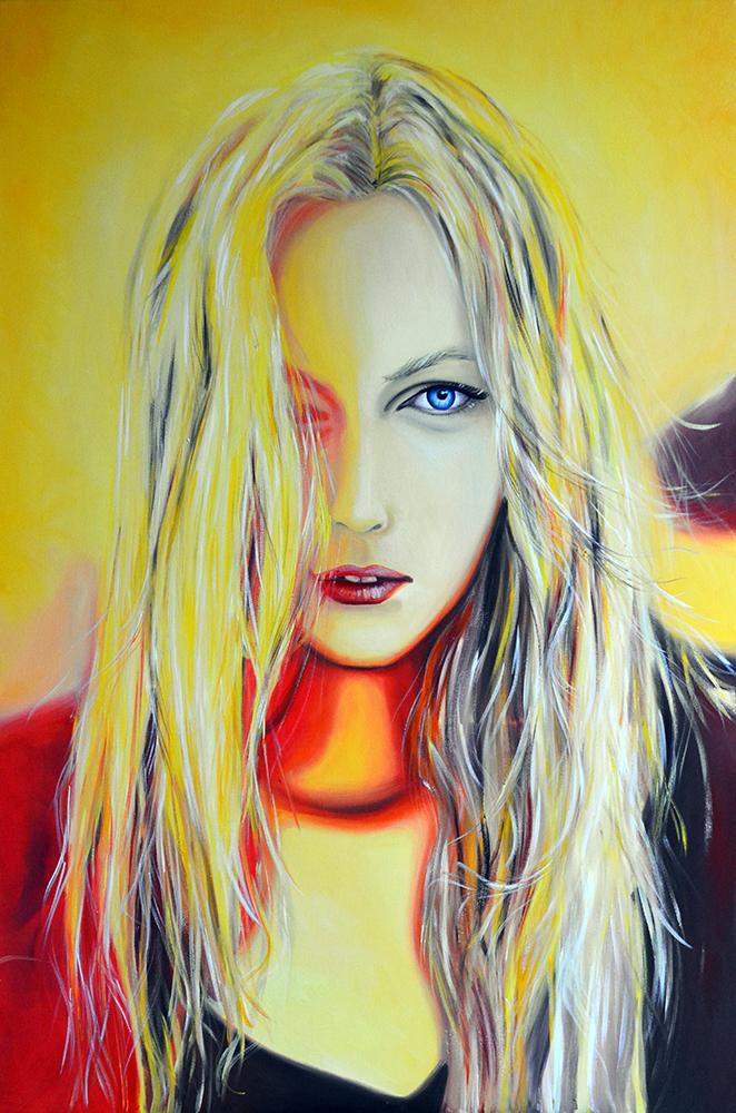 Watch the sun rise, 120-80cm, 2017, oil on canvas
